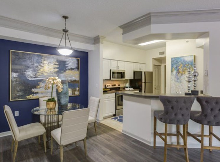 Dining Room at Vista Lago Apartments in West Palm Beach, Florida