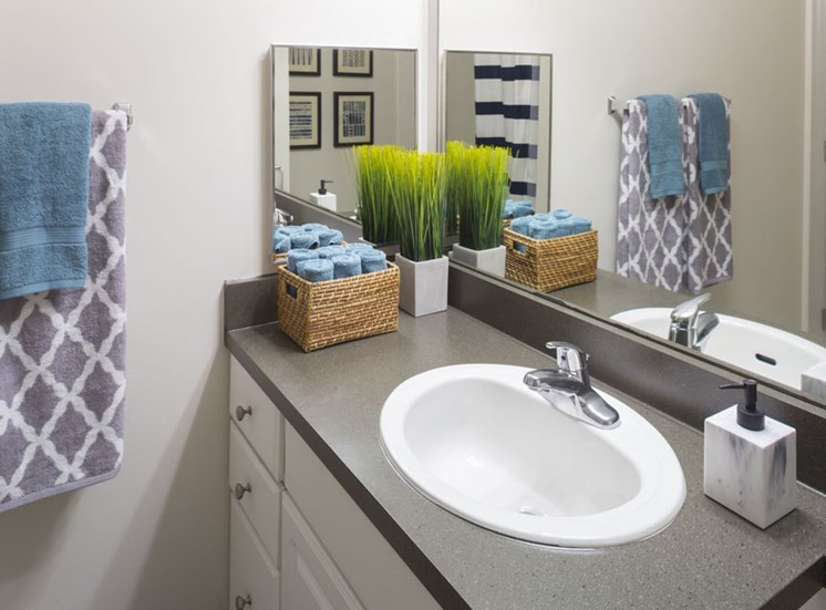 Bathroom at Vista Lago Apartments in West Palm Beach, Florida