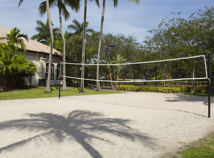 Sand Volleyball Court at Vista Lago Apartments in West Palm Beach, Florida