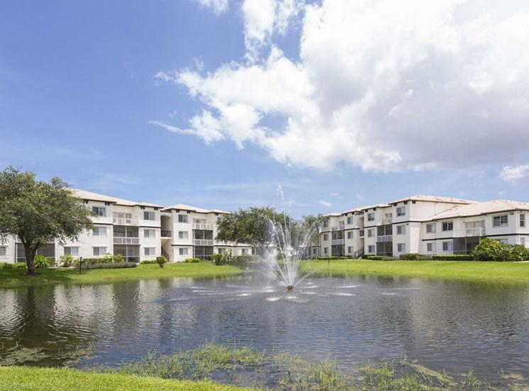 Pond at Vista Lago Apartments in West Palm Beach, Florida