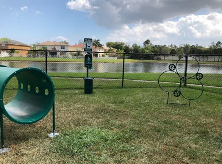 Dog park at Vista Lago Apartments in West Palm Beach FL