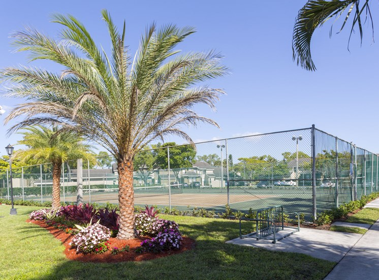 Tennis court at Water's Edge in Sunrise, FL