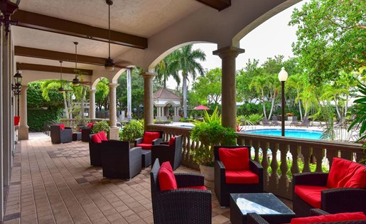 Outdoor seating at Waterstone at Wellington Apartments in Wellington, FL