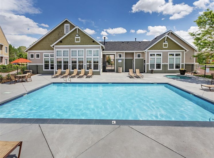 Relaxing Swimming Pool at Village at Westmeadow Apartments, Colorado Springs