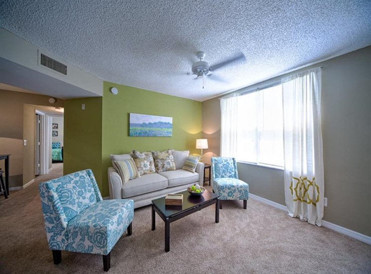 Spacious Living Area at Courtney Manor