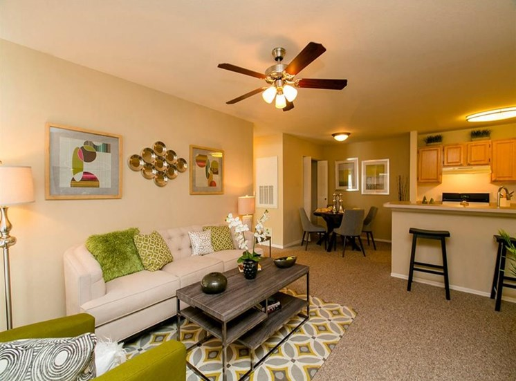 Spacious Living Area at Hatteras Sound