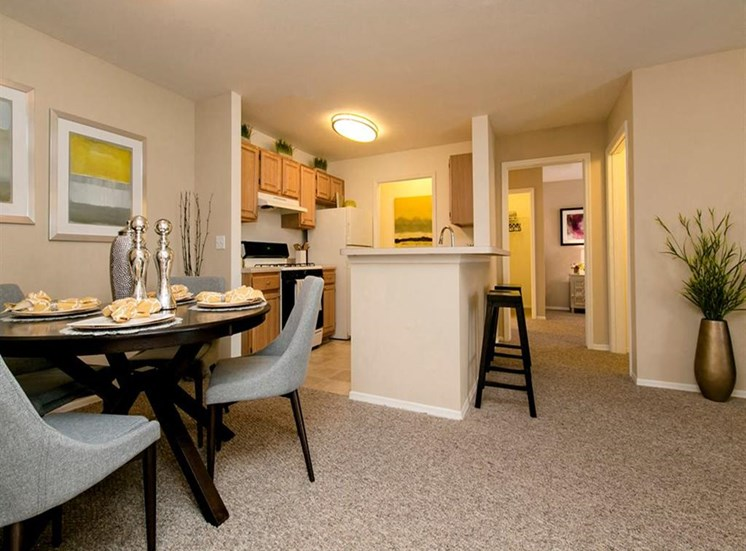Open Kitchen and Dining Nook at Hatteras Sound