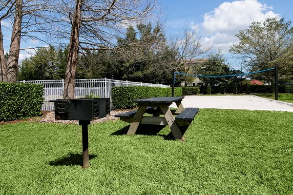 Sitting Area with Picnic Table and BBQ Grill