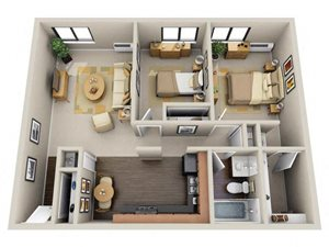 Floor plan at Willow Crossing, Elk Grove Village, IL 60007