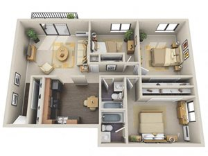 Floor plan at Willow Crossing, Elk Grove Village, IL