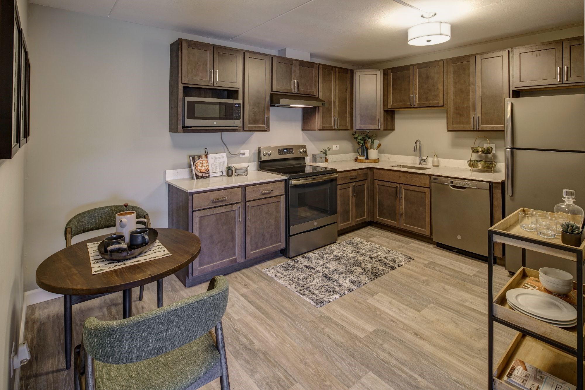 Shaker Style Wood Cabinetry, at Willow Crossing, Illinois