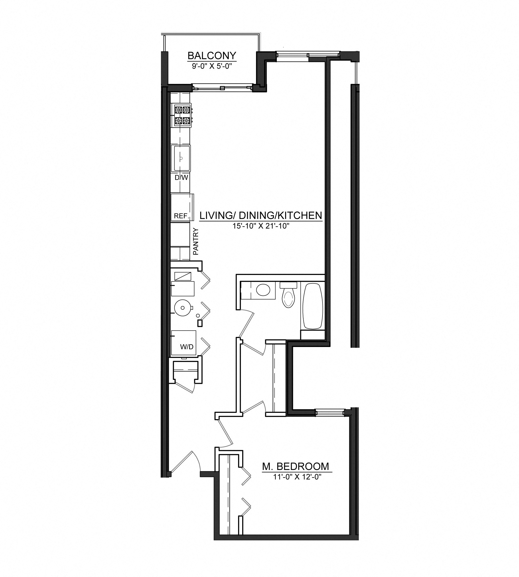 Floor Plans Of Wells Place Apartments In Chicago Il
