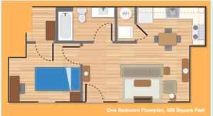 One Bedroom Option B