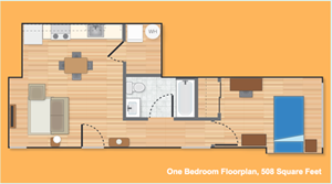One Bedroom Option D