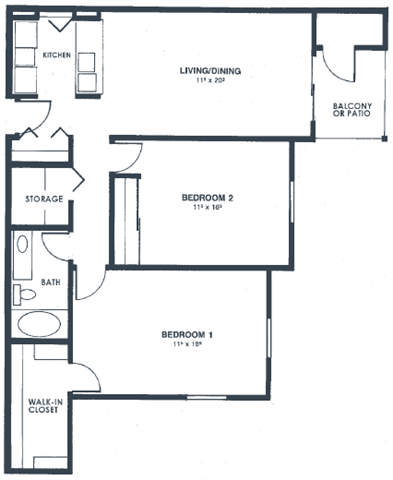 Unit C Floor Plan 3