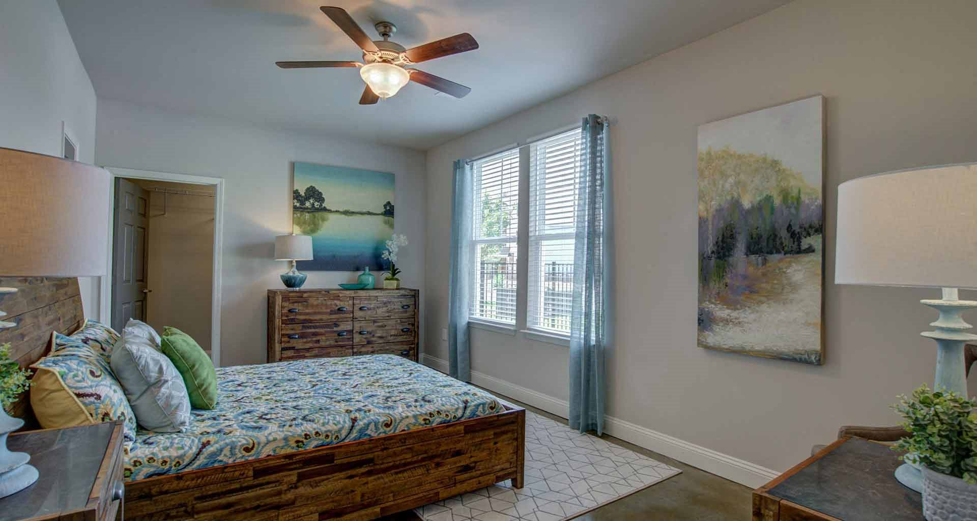 Large Bedroom with Ceiling Fan at Beckstone Apartments, Summerville, SC