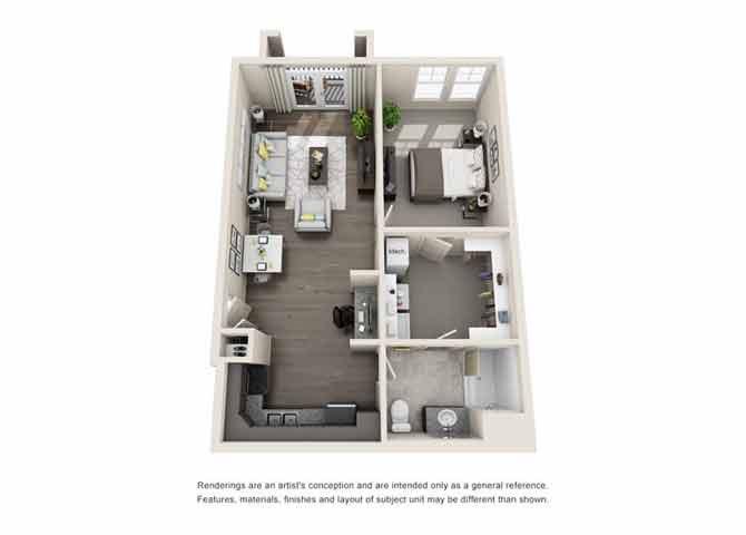 Azure Floor Plan at Beckstone Apartments, Summerville, South Carolina