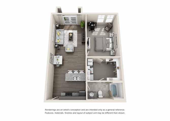 Cobalt Floor Plan at Beckstone Apartments, Summerville, 29486