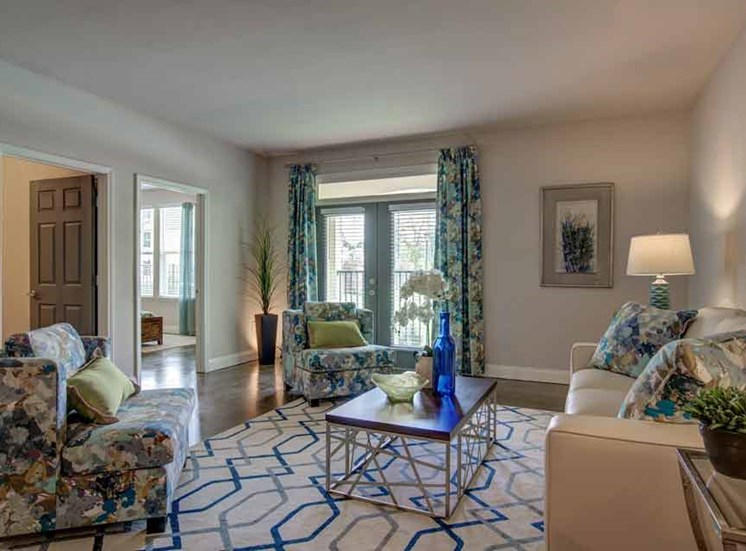 Classic Living Room Design at Beckstone Apartments, Summerville, South Carolina