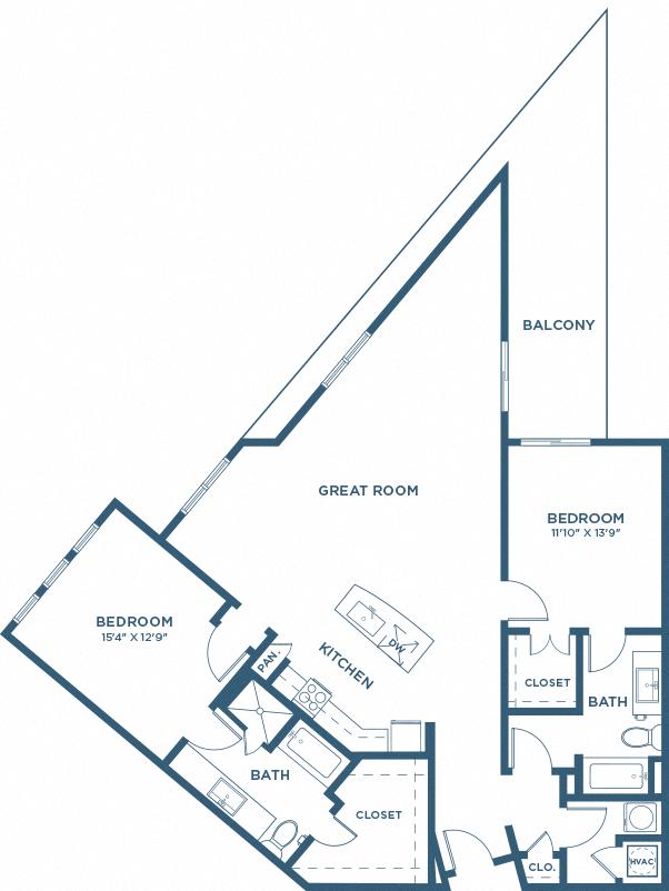 Two Bedroom Floor Plan - B11