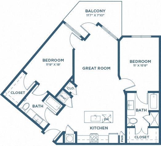 Two Bedroom Floor Plan - B7