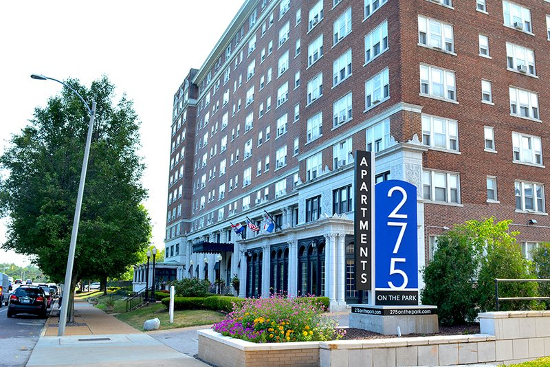 Exterior image of 275 on the Park sign