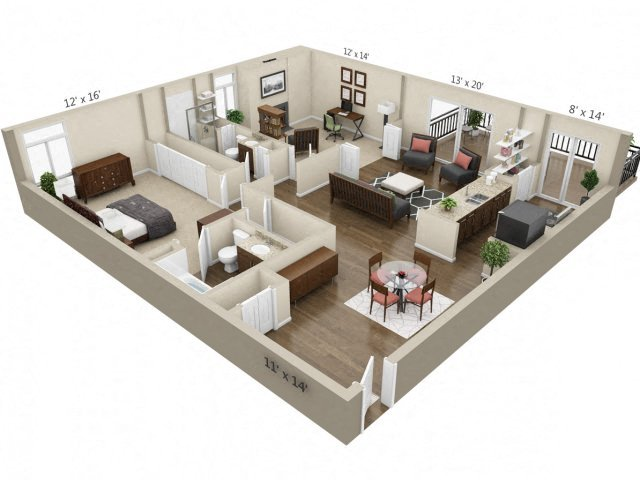 Luxury One Two Three Bedroom Apartments In Denver Co
