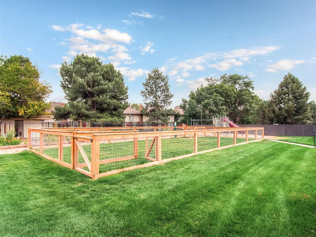 Gated grass area