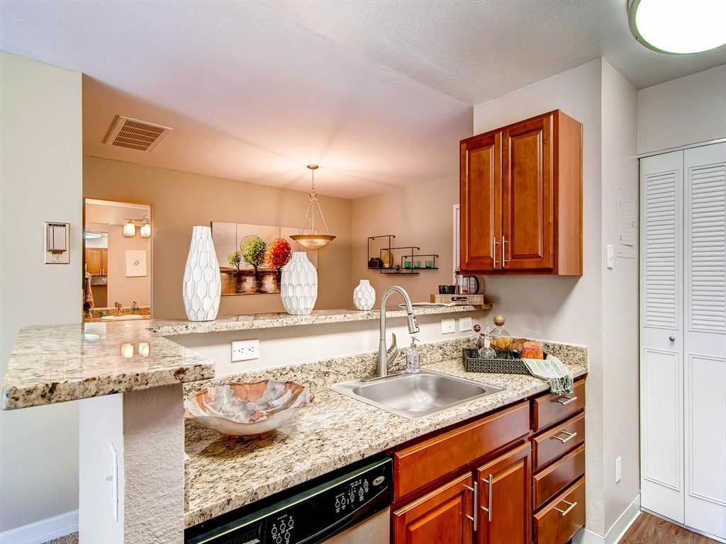 Luxury Apartments in Denver-The Lex at Lowry Apartments Kitchen