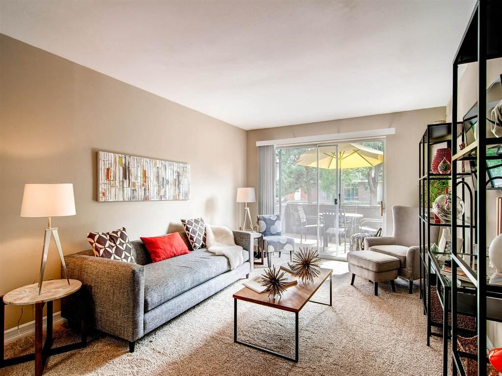 Pet Friendly Apartments in Denver CO-The Lex at Lowry Apartments Living Room