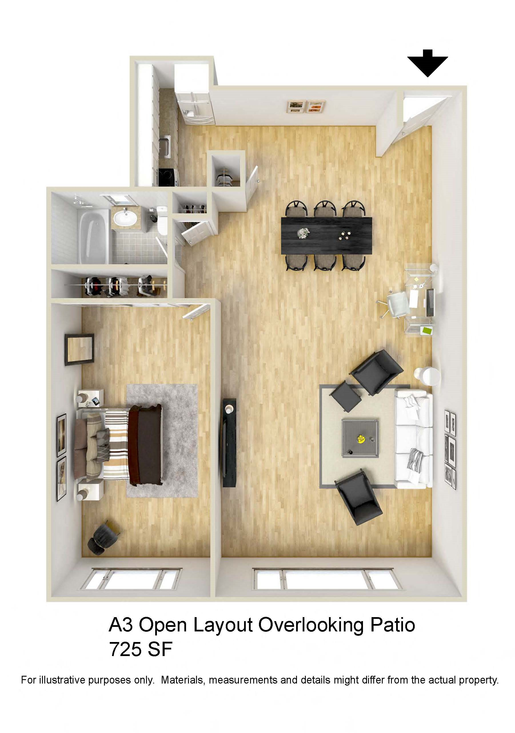 Corner Patio Floor Plan 6