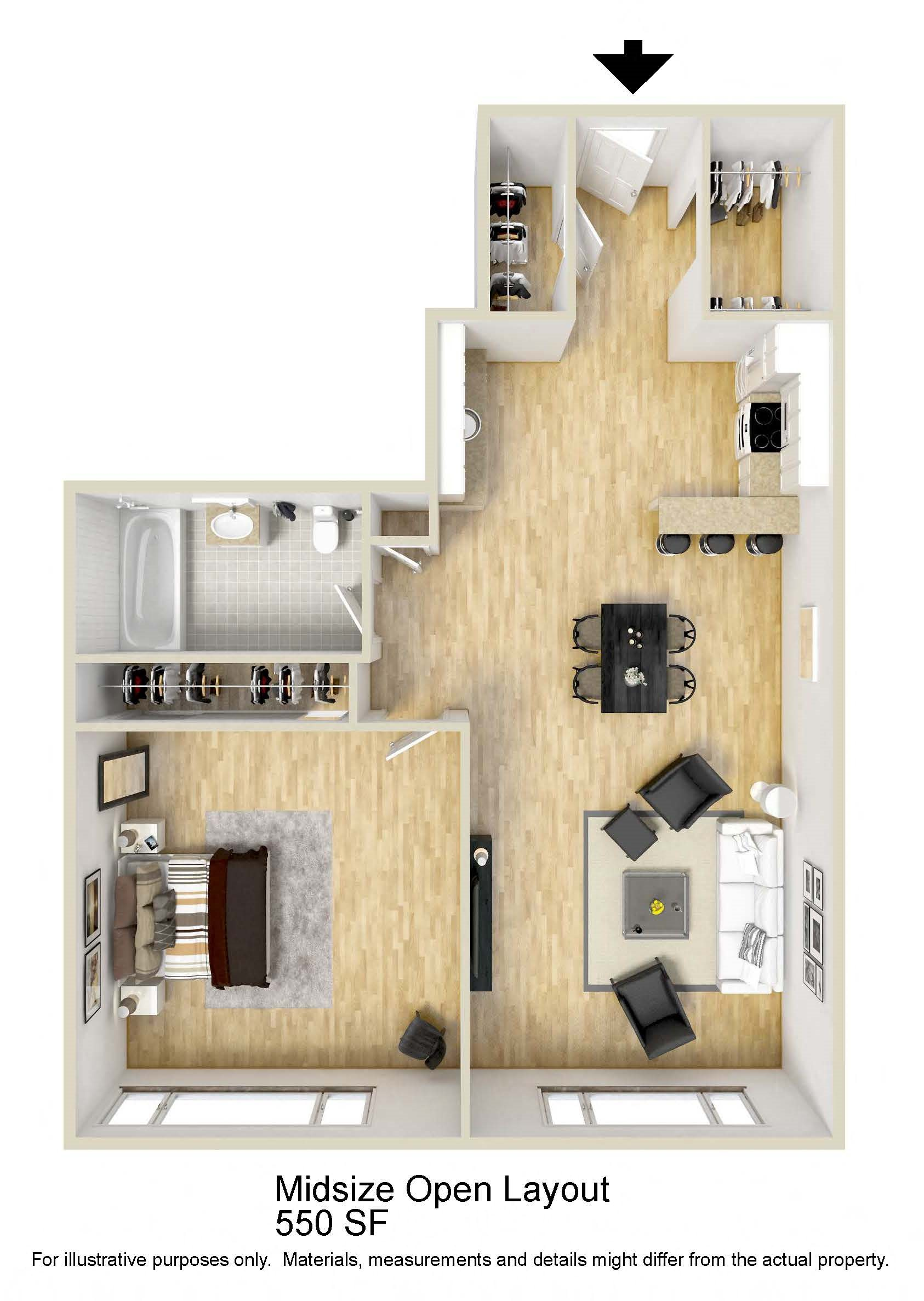 Midsize Floor Plan 3