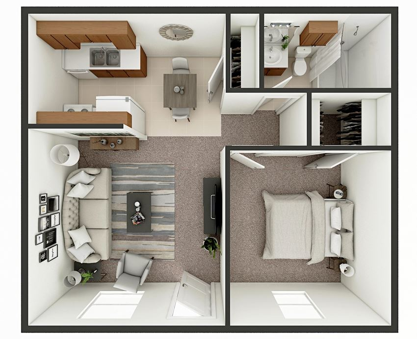 one bedroom apt floor plan