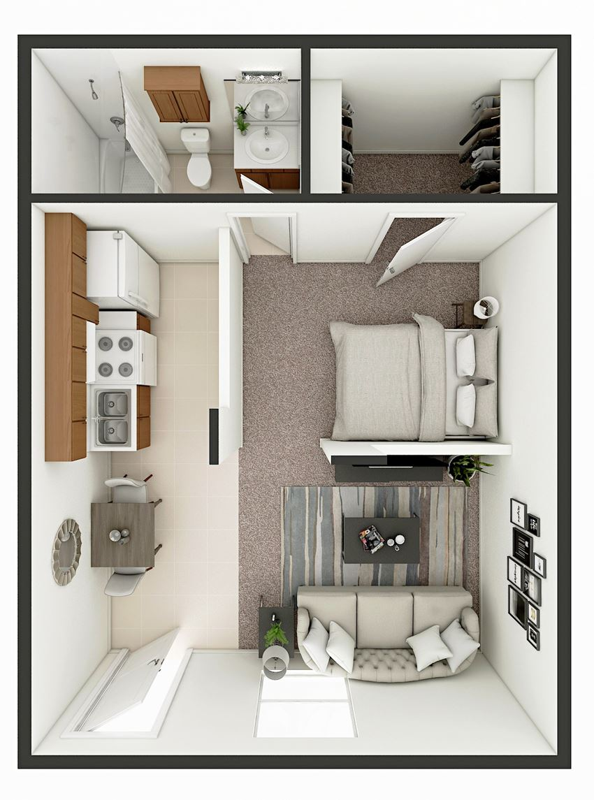 studio apartment floor plan lubbock tx