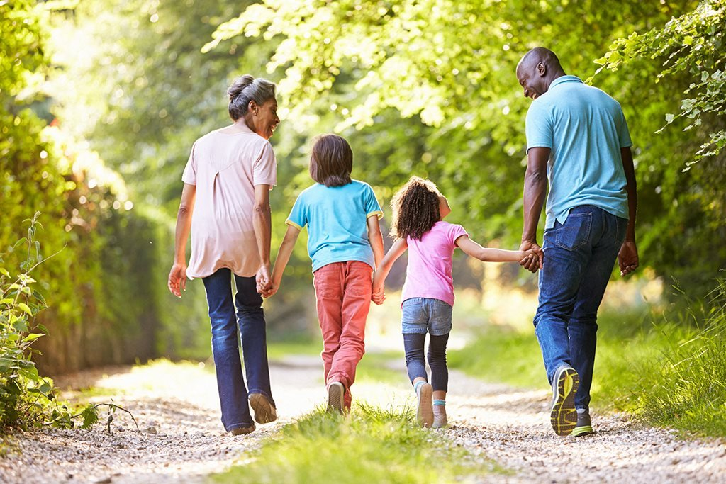 Family Walking Stock Photography