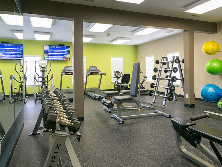 Cardio Machines and Weighted Equipment