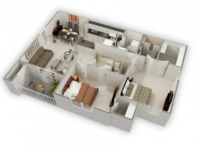 1109 sq.ft. Two Bed Two Bath
