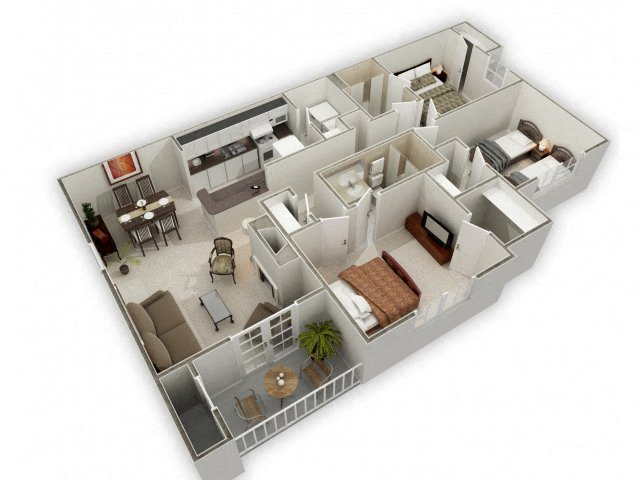 Three Bedroom Floor Plan 4