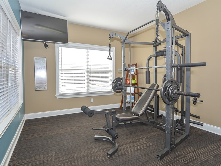 Fitness Center with Kettle Bells