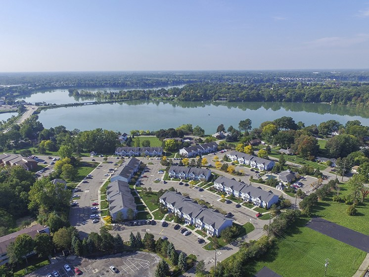 Ariel View of the Green Meadows Apartment Community