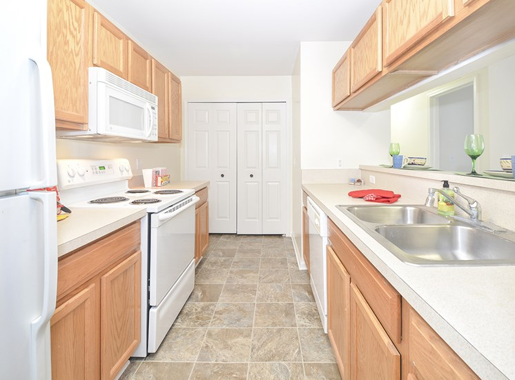 Kitchen with White Appliances