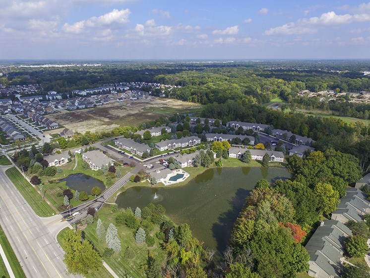 Ariel View of the Turtle Cove Apartment Community