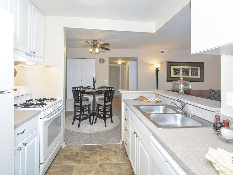 Kitchen with White Cabinetry and Appliances
