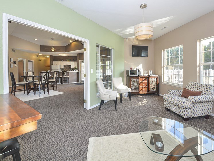 Coffee Bar at the Clubhouse and Lounge Chairs