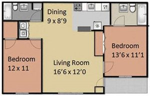 Two Bedrooms Two Full Baths
