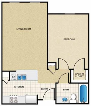 1 Bedroom/1 Bath (Flat)