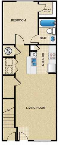 1 Bedroom/1 Bath (Townhouse)