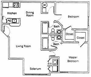 2 Bedroom/2 Bath (Split)