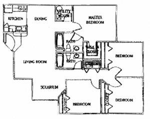 4 Bedroom/2 Bath (Split)