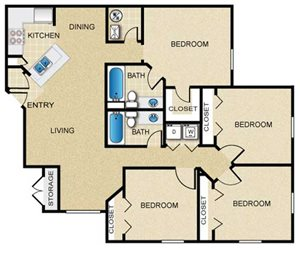 4 Bedroom/2 Bath